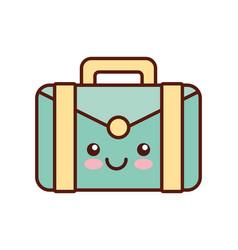 portfolio kawaii style business isolated icon vector image