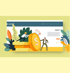 profit business concept web page template earning vector image