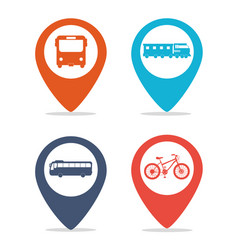 Public transport vehicles spots vector