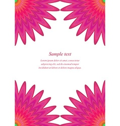 Red floral page corner design template vector image