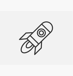 rocket toy icon on white background line style vector image