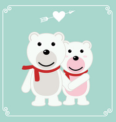 romantic valentines day card of a pair of loving vector image