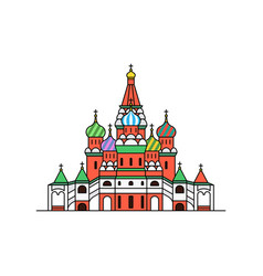saint basils cathedral icon moscow russia vector image