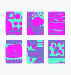 set of decorative handmade backgrounds vector image