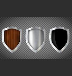 set of shield vector image
