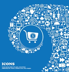shopping cart icon Nice set of beautiful icons vector image