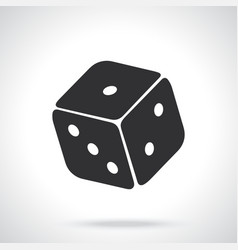 silhouette one casino dice vector image