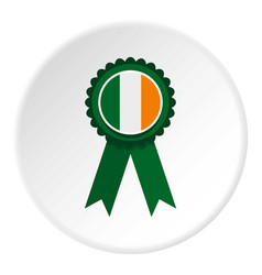 St patrick day rosette icon circle vector