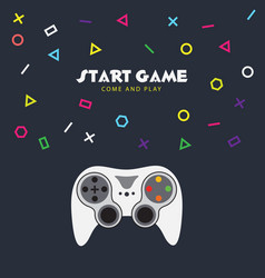 Start game come and play game controller vector