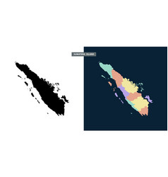 Sumatera region with free 2 style vector
