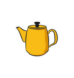 teapot logo design inspiration vector image
