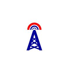 tower signal logo vector image