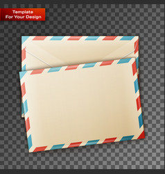 two blank envelope vector image