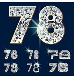 Ultimate alphabet of diamonds and platinum ingot vector