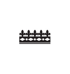 vintage medieval royal crown monochrome icon vector image