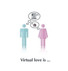 Virtual love is vector image