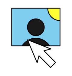 Web design elements picture mouse arrow icon vector