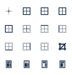 Windows icons vector image
