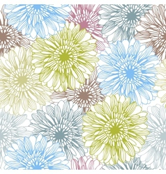 background with hand drawn flowers Seamless vector image vector image