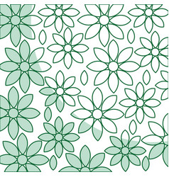 Beautiful flower pattern decoration icon vector