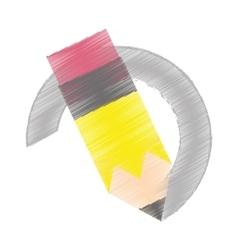 drawing pencil write school vector image