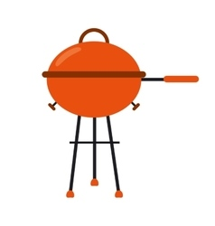 grill barbecue kettle food camping vector image