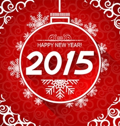 New Year card with snoflakes of Marry Christ vector image vector image