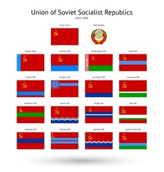 Soviet Union USSR Flags Collection vector image