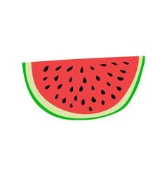 Watermelon slice Cartoon style vector image vector image