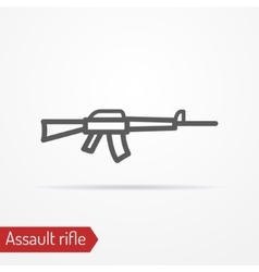 Assault rifle silhouette icon vector image vector image