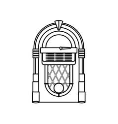 jukebox vintage rockola vector image