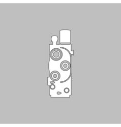 Retro cinema computer symbol vector image