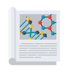 scientific journal icon vector image vector image