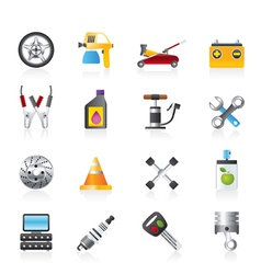 transportation and car repair icons vector image vector image