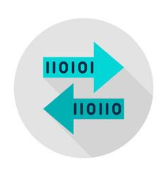 Bit transfer circle icon vector