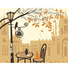 cafe castle vector image
