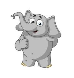 elephant character he raised a finger like vector image vector image