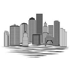 Modern City Skyline vector image