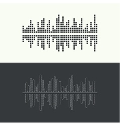 Music sound wave vector image vector image