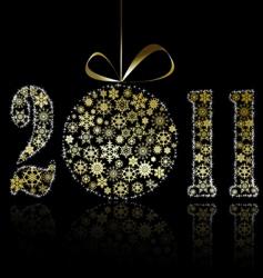 New Year 2011 symbol vector image