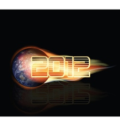 2012 doomsday background vector image vector image