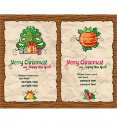 Christmas wrapping paper vector image vector image