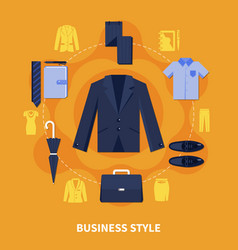 clothes colored composition vector image