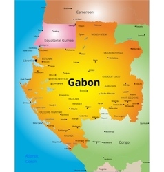 color map of Gabon vector image