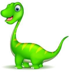 cute dinosaur cartoon vector image vector image