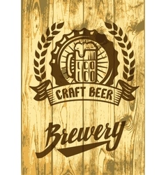 Label with beer mug vector image vector image