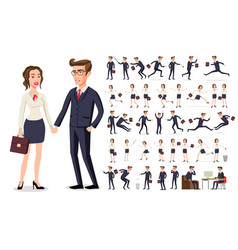 set girl and boy business people woman in a white vector image