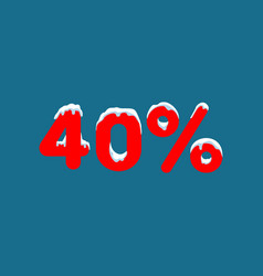 10 off a discount of ten percent numbers in the vector image