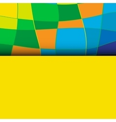 Abstract patterns of color flag of Brazil vector image