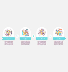 Addiction recovery steps infographic template vector